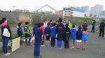 U12 vs若林@二子緑地(暴風雨の為、本部テント外して対応)
